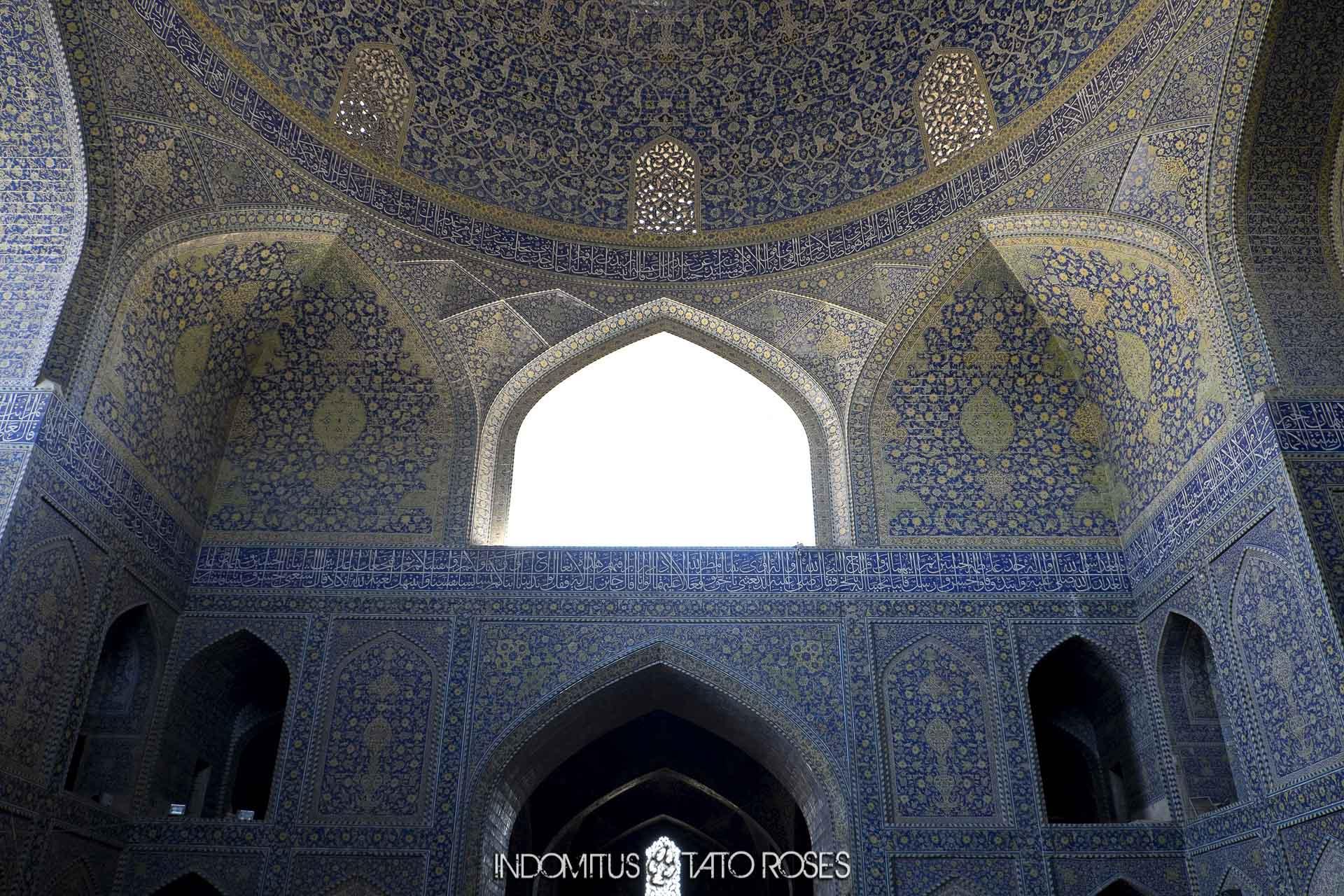 Irán 271 Detalle mezquita del Shah Naghsh i Jahan Isfahan