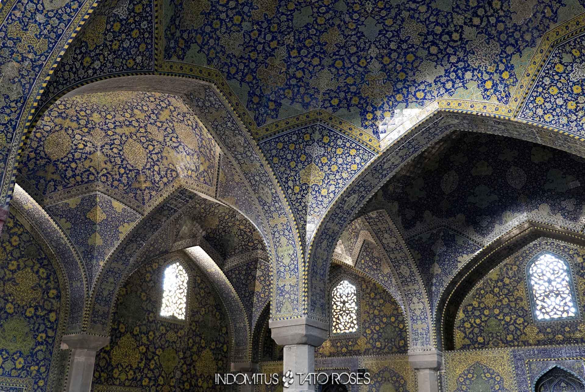 Irán 276 Detalle mezquita del Shah Naghsh i Jahan Isfahan