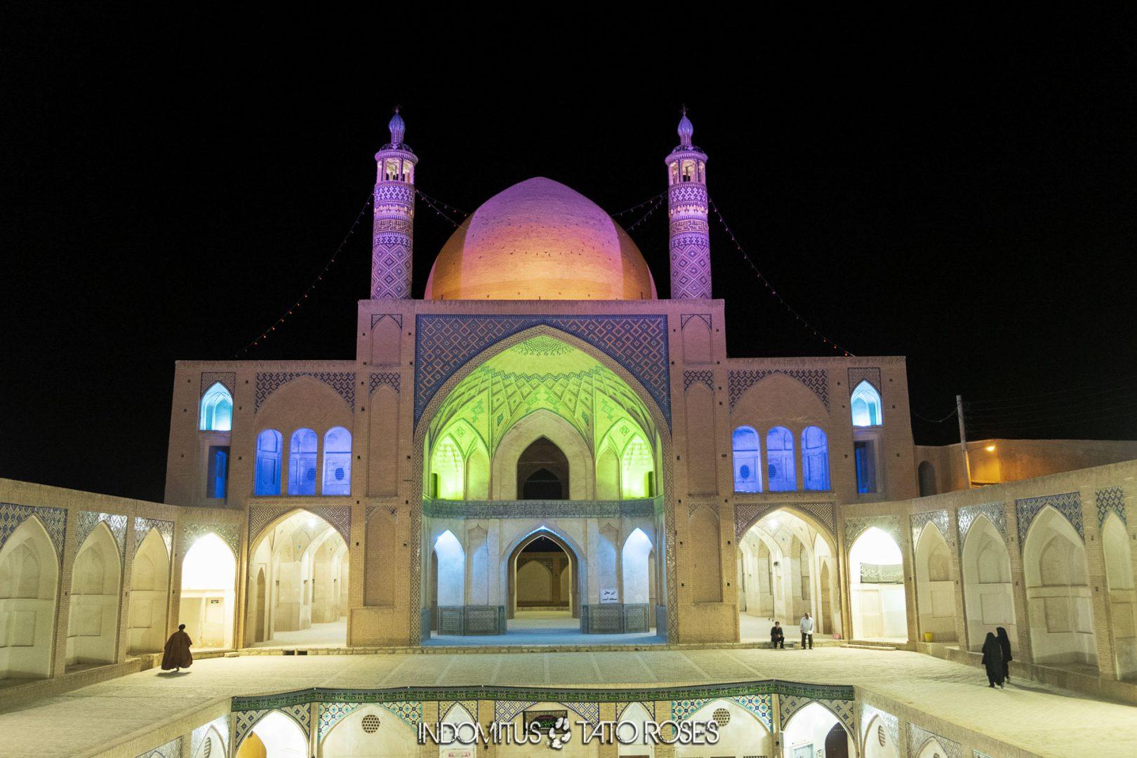 Irán 702 Mezquita y madraza Agha Bozorg Kashan