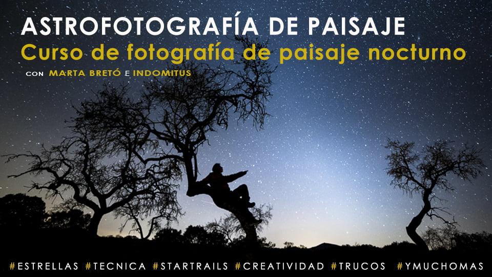 caratula curso astrofotografía de paisaje