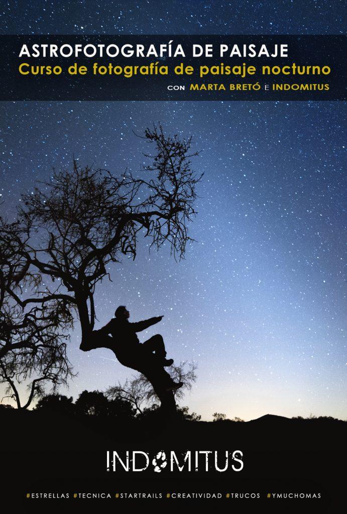 cartel del curso de astrofotografía de paisaje