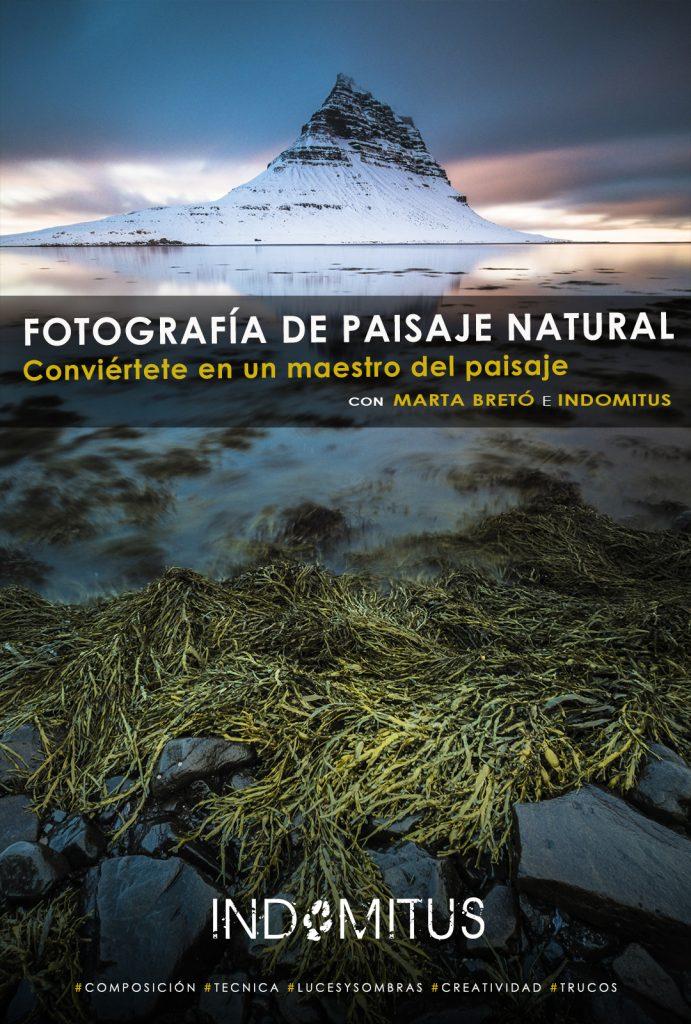 cartel del curso de fotografía de paisaje