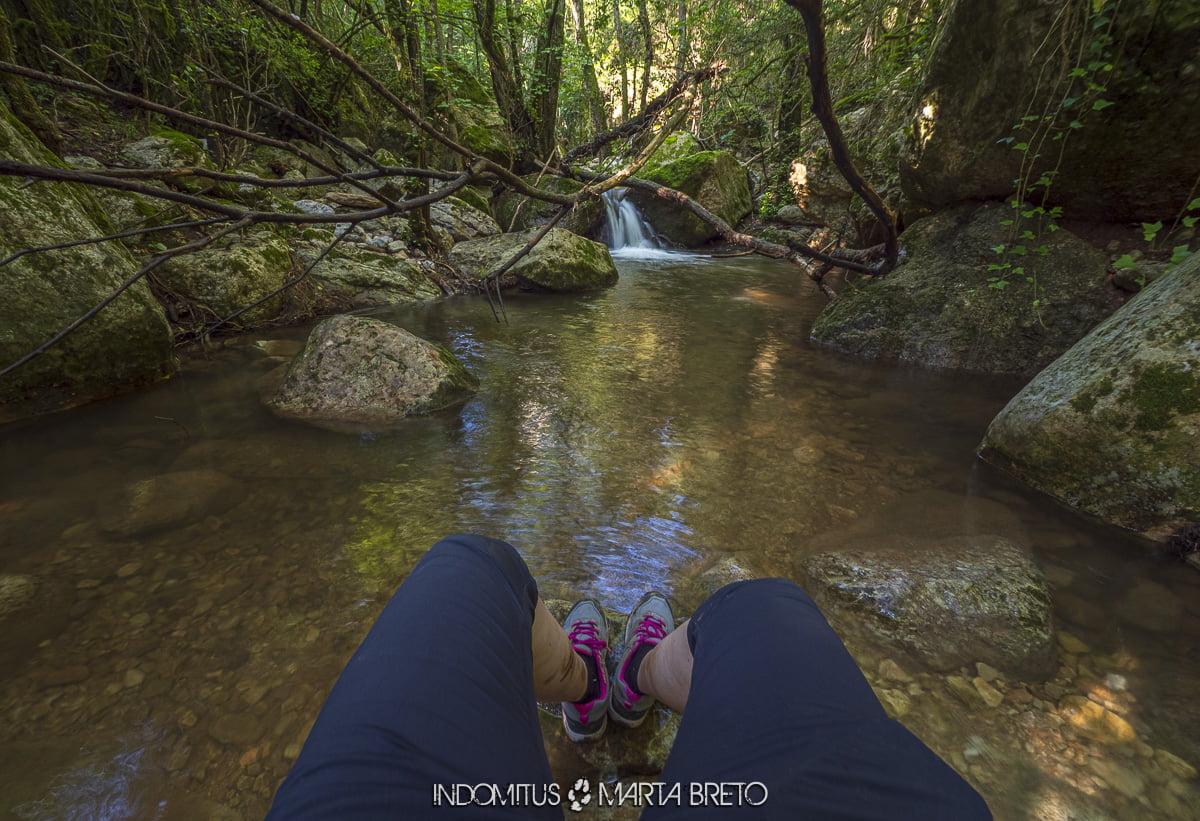 cascada y río